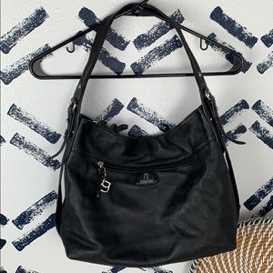Etienne Aigner Classic Black Leather Hobo